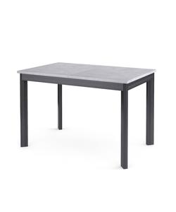 Стол кухонный раздвижной Dikline L111 бетон/опоры темно-серые