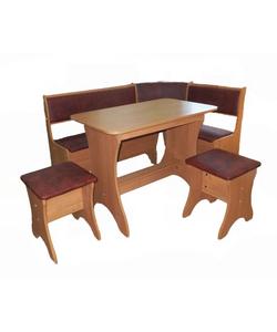 Кухонный уголок комплект Универсальный со столом и табуретами