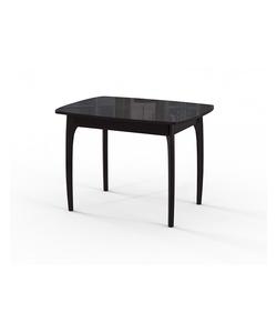 Стол кухонный раздвижной №40 ДН4, венге/стекло черное, вставка черная