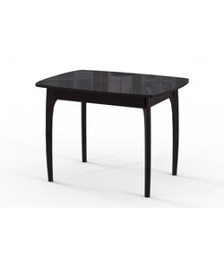 Стол кухонный раздвижной М15 ДН4, венге/стекло черное, вставка черная
