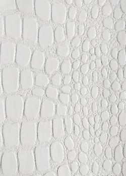 22 белый кроко с серебром