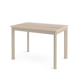 Стол кухонный раздвижной Dikline L110 дуб бардолино/ножки капучино
