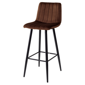 Барный стул DERRY G062-10 велюр шоколадный