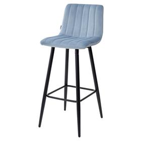 Барный стул DERRY G108-56 велюр пудровый синий