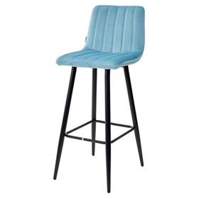 Барный стул DERRY G108-57 велюр пудровый бирюзовый