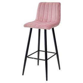 Барный стул DERRY G108-15 велюр пепел розы