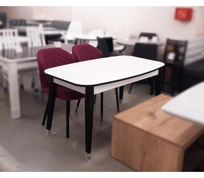Стол кухонный раздвижной Партнер белый матовый / опоры белые