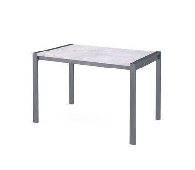 Стол кухонный раздвижной Dikline T110 бетон/опоры темно-серые