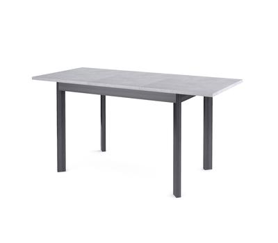 Стол кухонный раздвижной Dikline L110 бетон/опоры темно-серые
