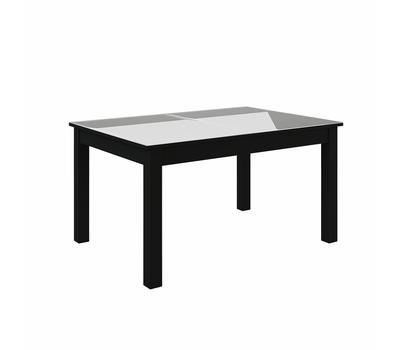 Стол кухонный раздвижной Васанти-С белый / пвх черное/ обвязка черная