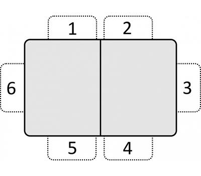 Стол кухонный раздвижной Васанти-С белый с черным кантом / пвх черное/ обвязка белая