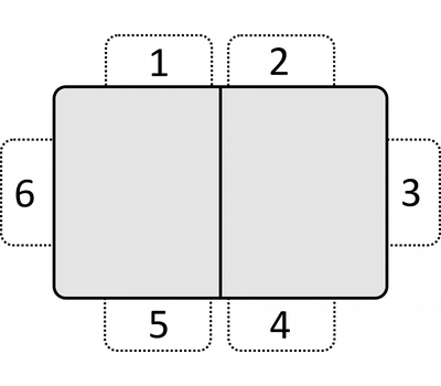 Стол кухонный раздвижной Васанти-С белый с черным кантом / пвх белое / обвязка белая