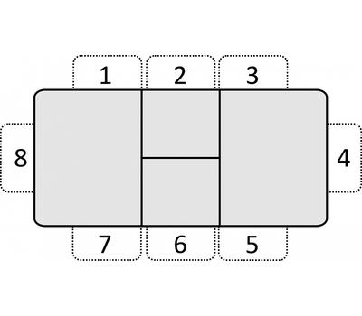 Стол кухонный раздвижной Васанти-С черный с белым кантом / пвх черное / обвязка черная