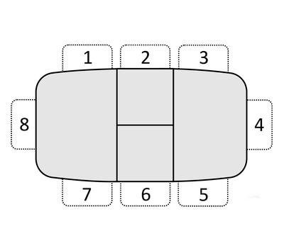 Стол кухонный раздвижной Дорн дуб сонома / опоры белые