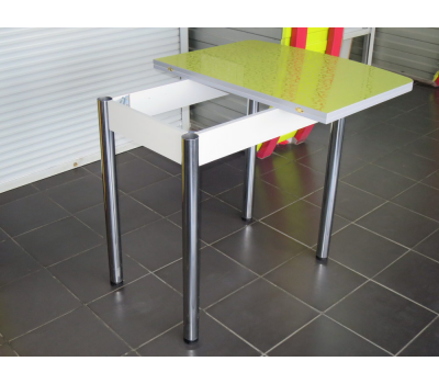 Стол кухонный раскладной верх пластик Флора олива