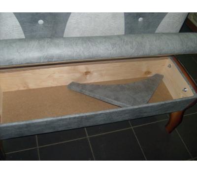 Кухонный уголок Уют массив (обивка ST-24 - ST-23 - тонировка орех)