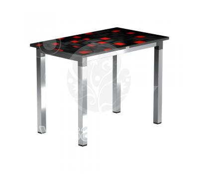 Стол обеденный стеклянный с фотопечатью Васанти-2 квадрат № 104
