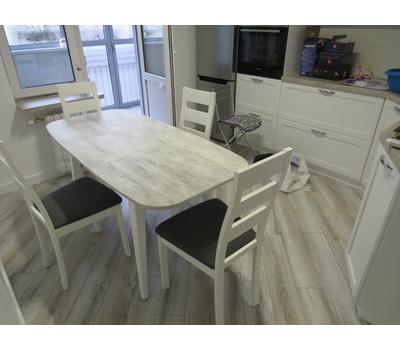 Стол кухонный раздвижной Дорн урбан лайт / опоры белые