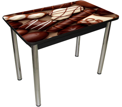 Стол кухонный с обвязкой УФ печать закаленное стекло (много картинок)