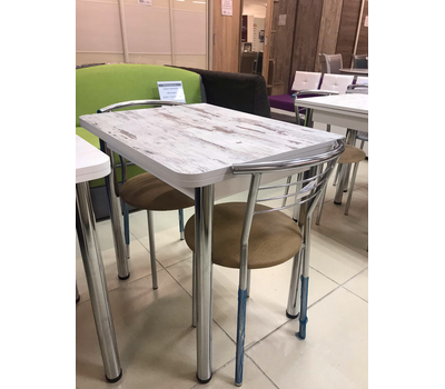 Стол кухонный ломберный (раскладной) пластик сверху и внутри 80х60 см / 120х80 см