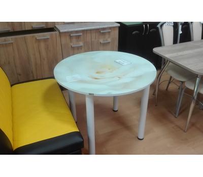 Стол кухонный стеклянный с фотопечатью КРФ 90 см круглый