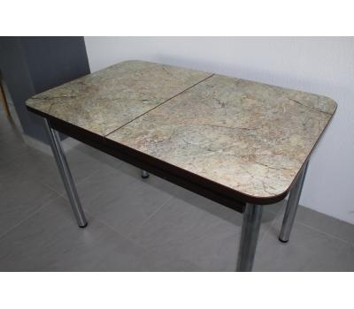 Стол кухонный раздвижной Мила - 2 мрамор золотой