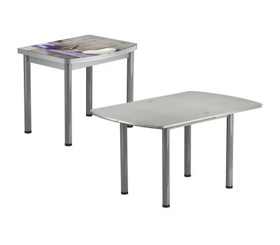 Стол раскладной обеденный стеклянный с фотопечатью  БРФ РШ 90х70 см / 140х90 см № 124