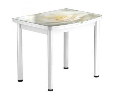 Стол раскладной обеденный стеклянный с фотопечатью  БРФ РШ 90х70 см / 140х90 см № 120