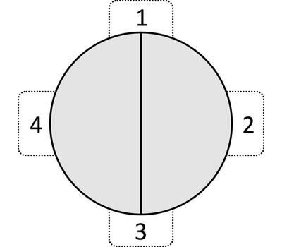 Стол кухонный раздвижной KENNER 1000C белый/стекло серое