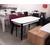 Стол кухонный раздвижной Партнер бежевый матовый / опоры черные