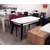 Стол кухонный раздвижной Партнер белый матовый / опоры черные