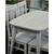 Стол кухонный раздвижной Дорн дерево белое / опоры белые